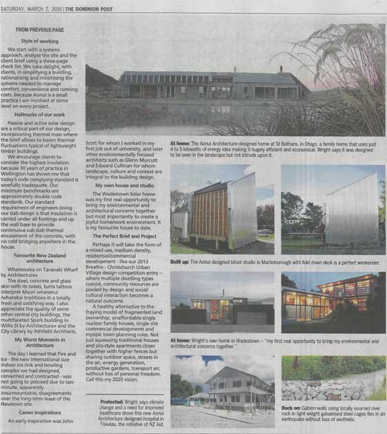 Page 2 of Dominion Post feature